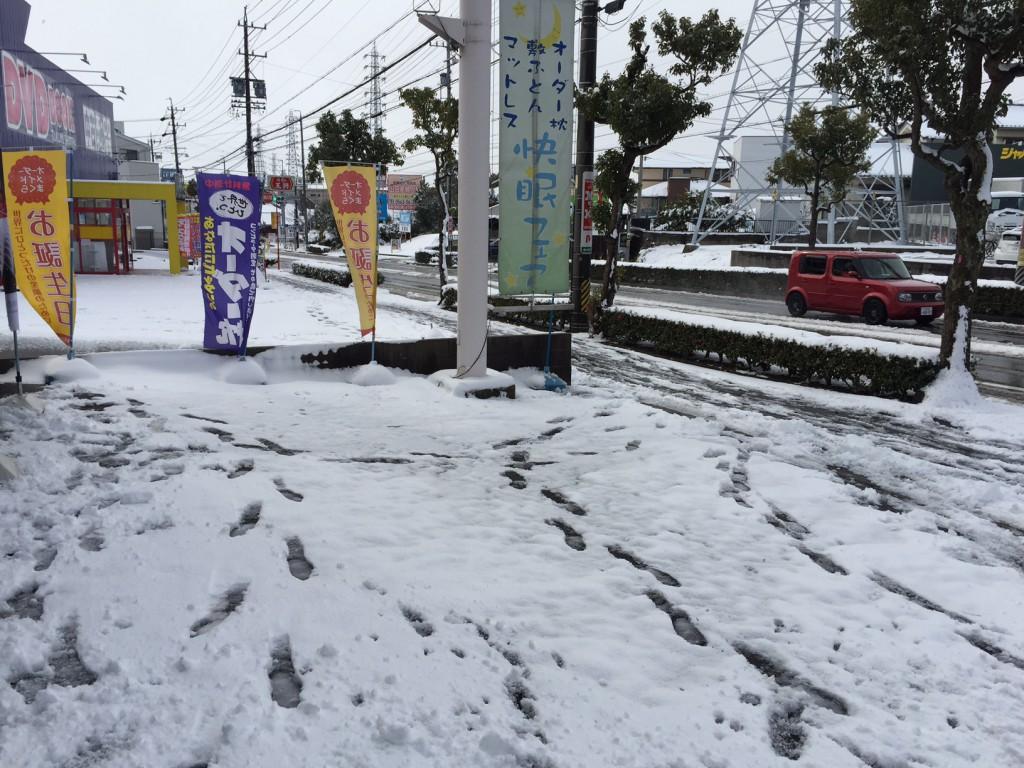 愛知県三河地方大雪