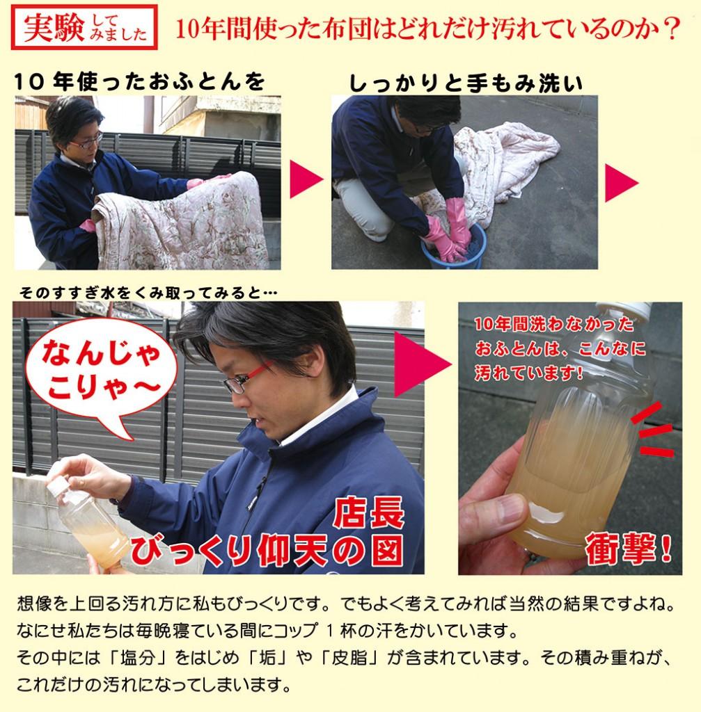 汚ふとん丸洗い実験