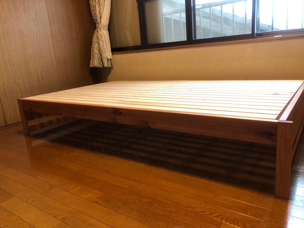 ベッドフレーム 日本製 国産 ヒノキ 無垢 西尾